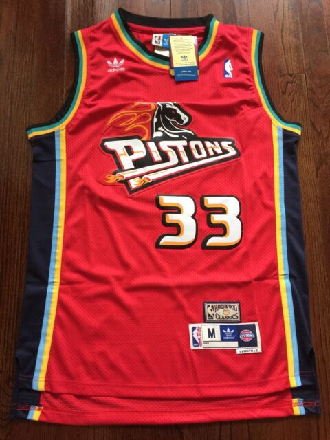 5f4c2ef33c65 Grant Hill  33 Detroit Pistons Throwback Stitched Swingman Away Jersey M  RARE