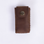 fountain pen bag pencil cow Leather stationery box case storage pouch brown A550