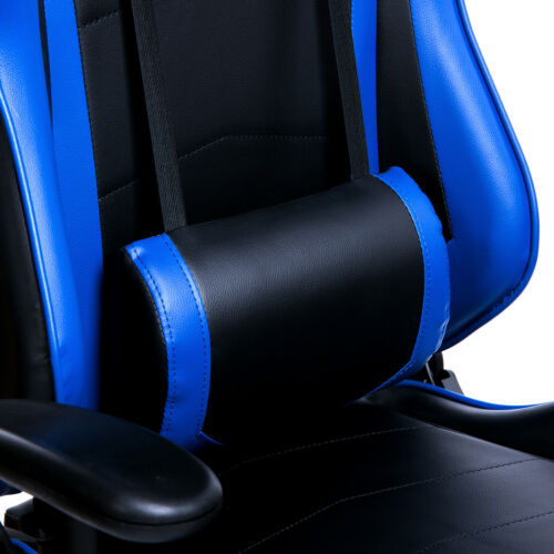 Racing Stuhl Gamingstuhl Drehstuhl Sportsitz Bürostuhl mit Fußstütze Blau BS14bl