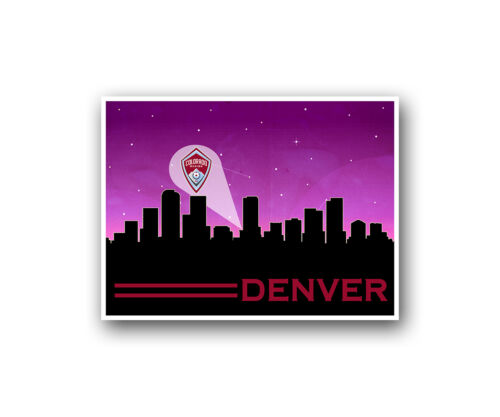 "Colorado Rapids Poster City Skyline Art Print Man Cave Decor 12x16/"""