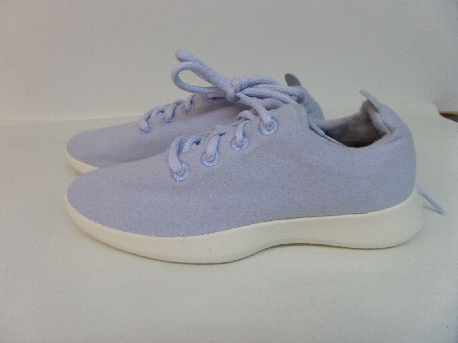 Allbirds Femme Laine Patins Chaussures Bleu Clair avec semelle blanche taille 10