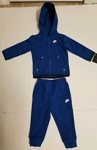 Nike Tech Fleece Two Piece Unisex Baby Set Royal Blue Sz 24m New 66e786 C3m 617845866021 Ebay