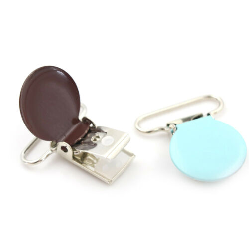 10x Mixed Color Infant Baby Metal Clips Pacifier Holders Alloy Suspender Hook AB