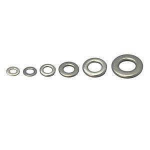 Stainless-Steel-Flat-Washers-10-20-50-100-Pcs-304-Grade-M4-M5-M6-M8-M10-M12