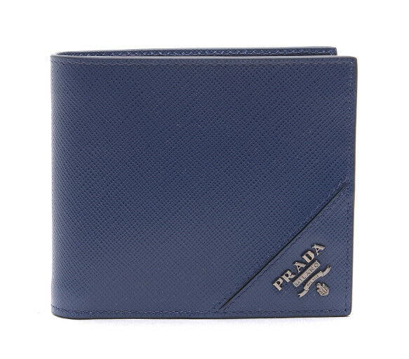 231fb3b01201 PRADA Blue Saffiano Leather Wallet 2mo513 QME F0016 for sale online | eBay