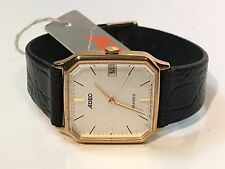 Vintage ADEC Gold Plated  Quartz  Watch Brand New W/Tags New Old Stock(W-1656-6)