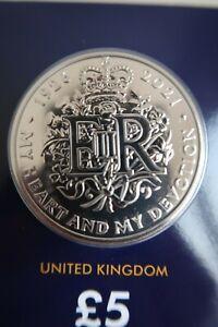 2021 Royal Nuovo di zecca Regina Elisabetta II 95th compleanno £ 5 BU Coin cinque Pound certificata