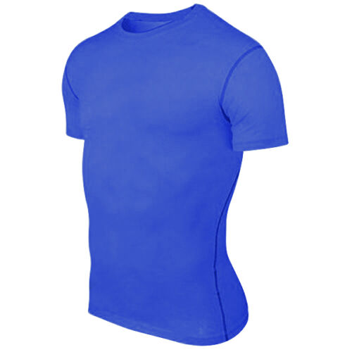 Men T Shirt Compression Under Base Layer Short Sleeve Tops Tee Thermal Sport Gym