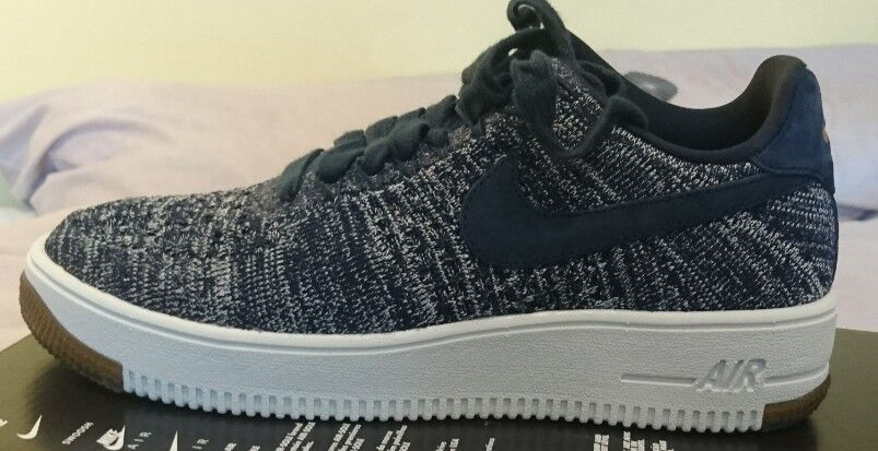 Nike Air Force 1 Flyknit Niedrig Uk 5.5 Bnib Woman 820256 402 College Blau Woman Bnib AF1 Weiß 3d1b30