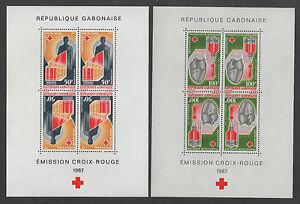 RED CROSS - GABON / 1967 - SET OF 2 BLOCKS - MNH (7383)