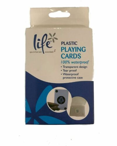LIFE  Waterproof Playing Cards Swimming Pool Spa Hot Tub Plastic Deck of Cards