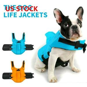 Pet-Dog-Life-Jacket-Summer-Swimming-Reflective-Stripes-Swimsuit-Vest-New-US