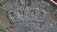 Belgique - Léopold II - rare monnaie de 2 Francs 1867 variété  sans croix