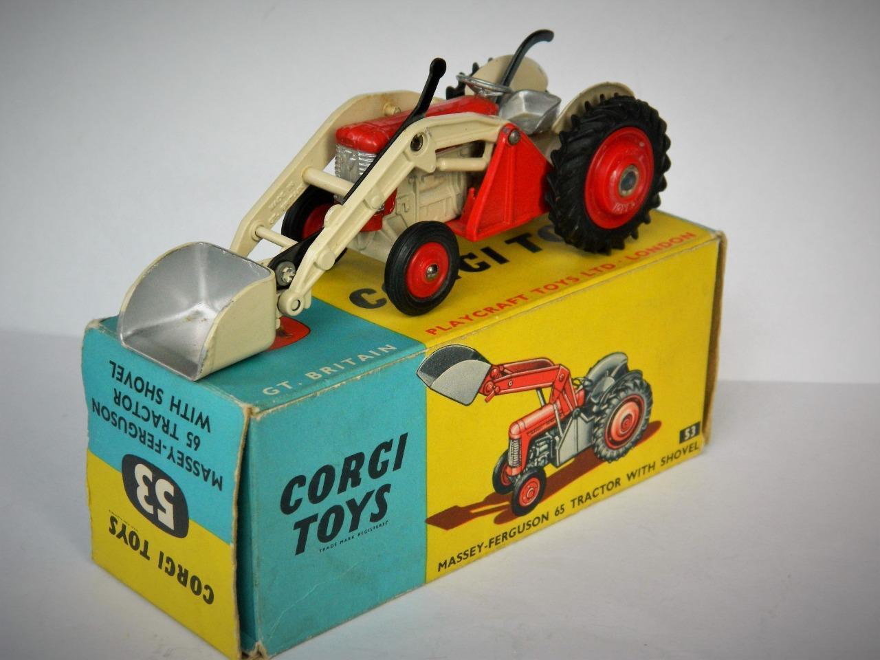 CORGI TOYS COFFRET VINTAGE 1960  53 Diecast Diecast Diecast Massey Ferguson 65 Tracteur avec pelle 6f4cff