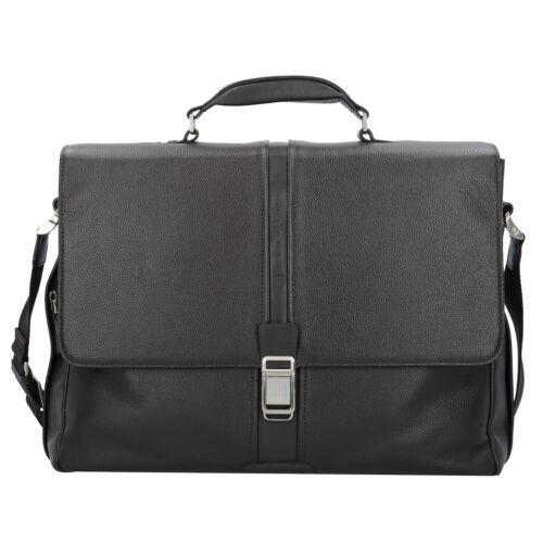 braun Piquadro Businesstasche Aktentasche Leder 41 cm Laptopfach