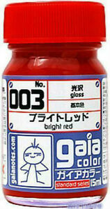 Gaia-Color-Lacquer-Model-Kit-Paint-15ml-003-Bright-Red-Brand-New-Free-Ship