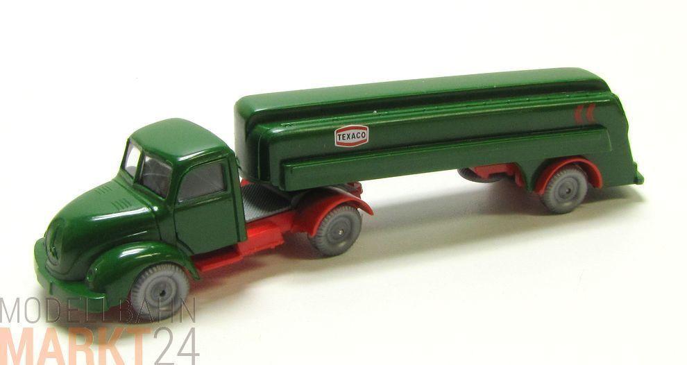 IMU Replika Magirus 3500 Lkw Tanklastzug TEXACO dunkel green Spur H0 1 87