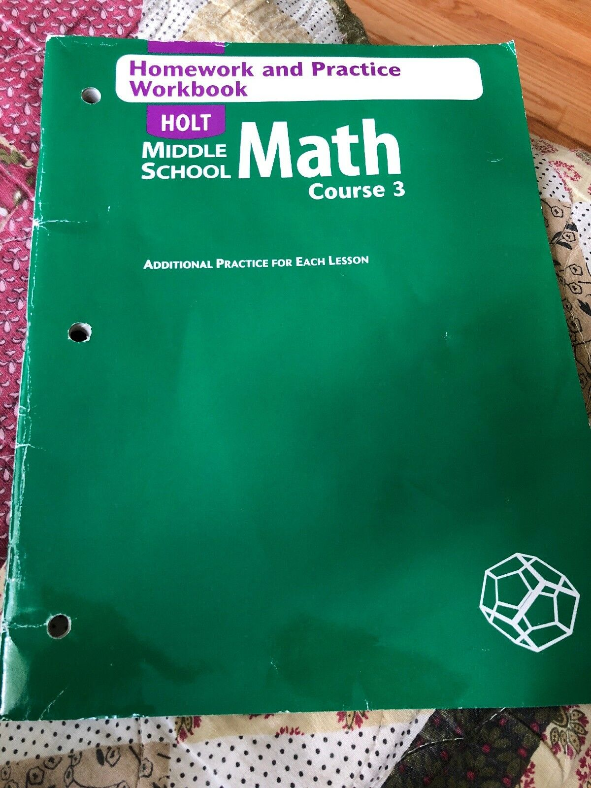 Holt Middle School Math: Holt Mathematics Course 3 : Homework and Practice  Workbook by Rinehart and Winston Staff Holt (2004, Paperback) | eBay