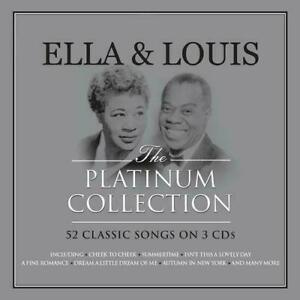 Ella Fitzgerald & Louis Armstrong PLATINUM COLLECTION Best Of 52 Songs NEW 3 CD