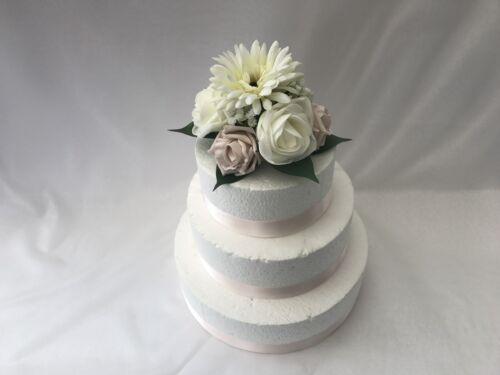 Flower Girl wand gerbera Bridesmaid Wedding Flowers Ivory Rose bouquet  Bride