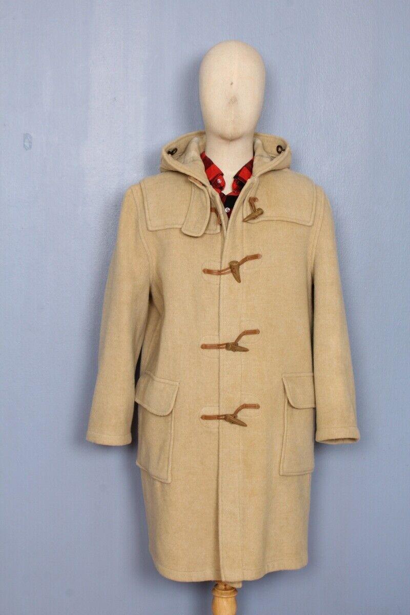 Authentic Gloverall Duffel Coat Beige Wool Hoodie… - image 1