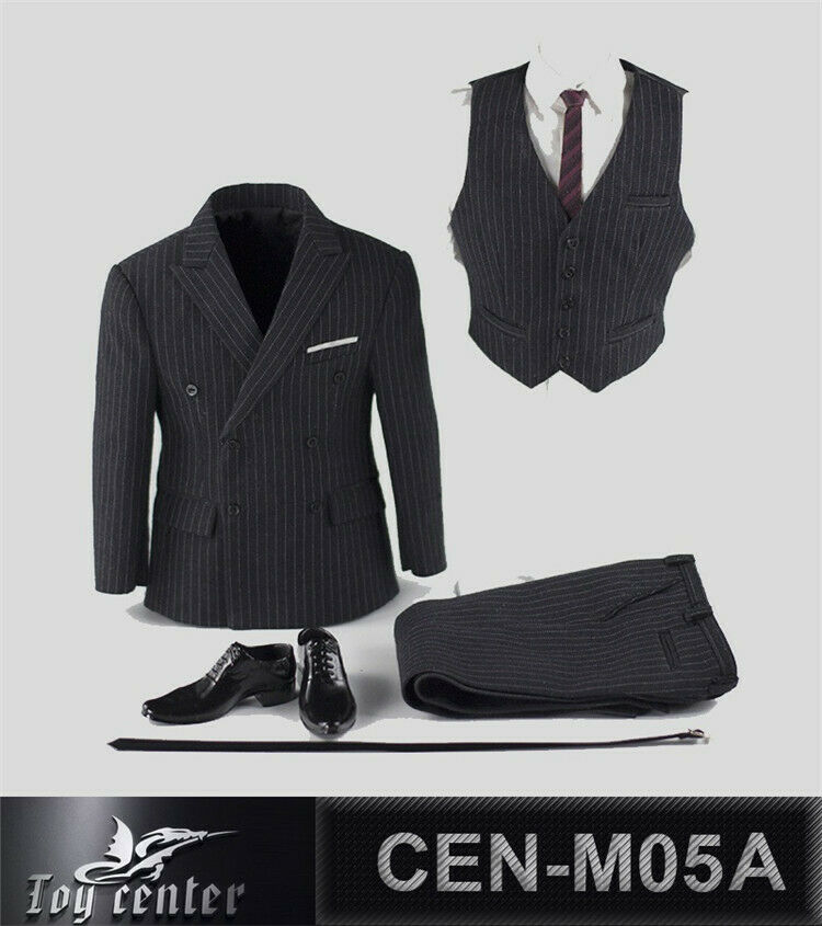 1 6  HOT FIGURE TOYS Toy center CEN-M05 A  British gentleman striped suit