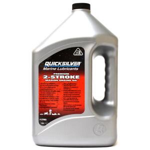 Details about Quicksilver Premium 2-Stroke Oil 4 Litres 92-858022QB1  Mercury Outboard Engines