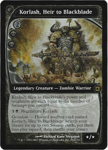 TCG-64-MtG-Magic-the-Gathering-Korlash-Heir-to-Blackblade-Pre-Release-Promo