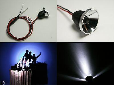 S697- 2 Stk LED Flutlichtstrahler Bau- Fassadenstrahler Scheinwerfer weiß 12-19V