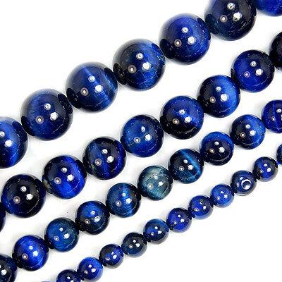 A++ Blue Tiger Eye Round Beads Pick Size 6,8,10,12mm