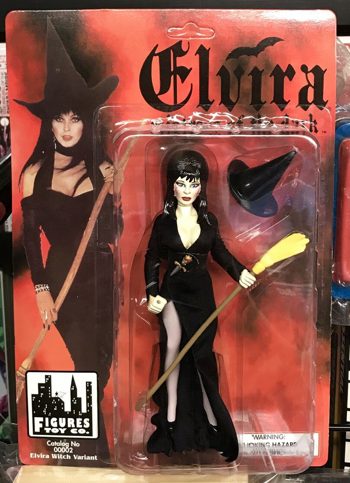Elvira Mistress Of The Dark Witch Variant Action Figure Toy Co 1998 NM Rare L@@K