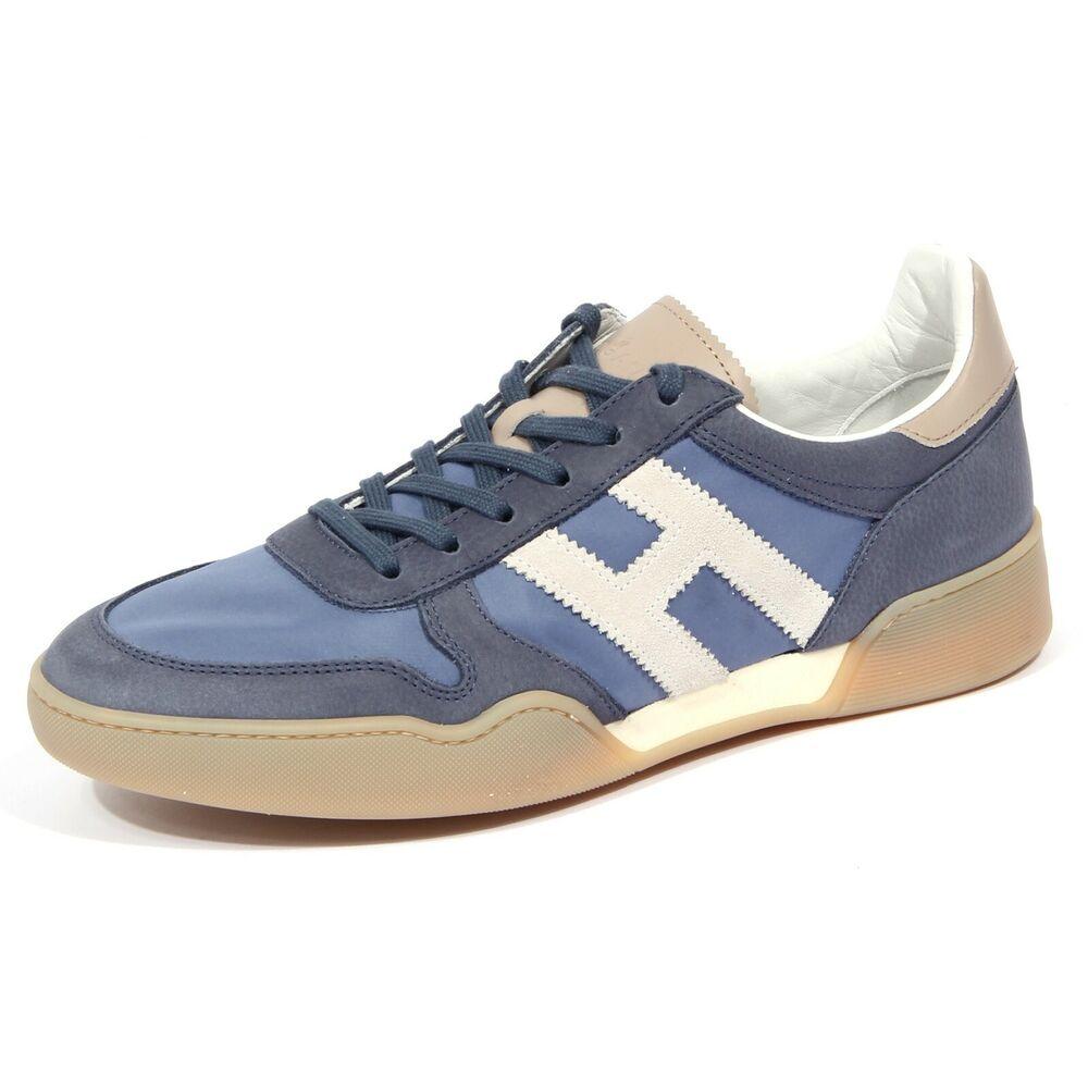 1681j Sneaker Uomo Light Blue Hogan H357 Scarpe Tissue/leather Shoe Man