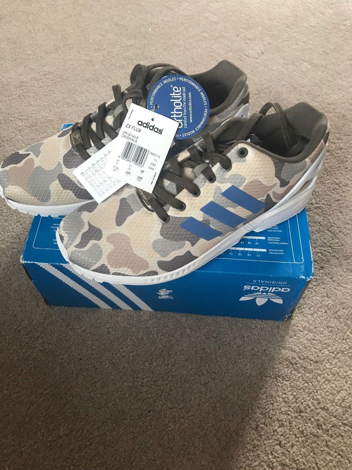 promo code 0f62e ce64f Adidas ZX Flux Trainers, Size 11, 11, 11, Brand New, BB2174 99ceb0