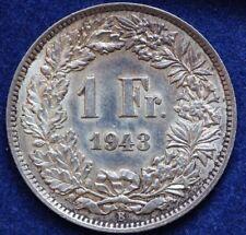 1 Franken 1943 Schweiz Erhaltung! alte Silbermünze Helvetia
