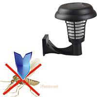 Solar Powered UV Mosquito Insect Zapper Killer Bug Trap LED Garden Light