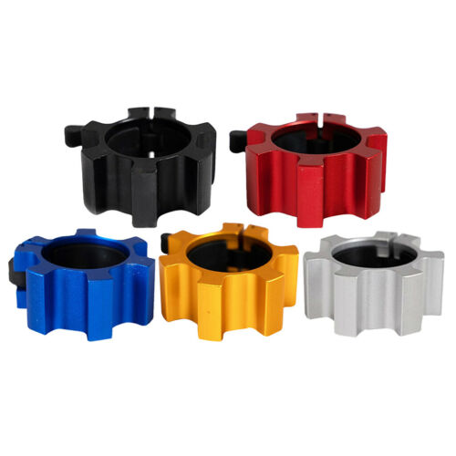 5cm Spinlock Collars 2/'/' Barbell Dumbbell Clips Clamps Weight Bar Locks Buckle