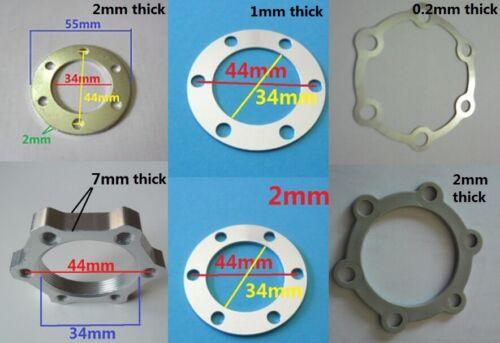 Bike 6 Bolt disc brake rotor spacer lock shim 1mm//2mm thick Φ44mm standard nut