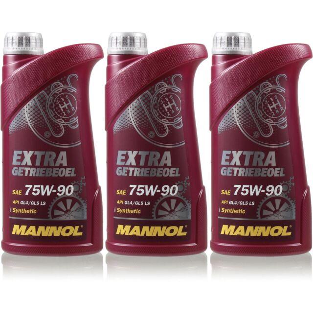 3L Original MANNOL Extra Huile de Transmission 75W-90 Api Gi 4 / Gl 5 Ls