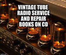 Tube Radio TV Repair Service Schematics Amplifier Rider Manuals RCA EIMAC GE CD