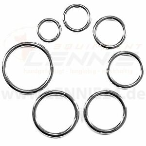 Rundringe-Stahl-silber-oder-schwarz-O-Ringe-Stahl-Ringe-verschiedene-Groessen