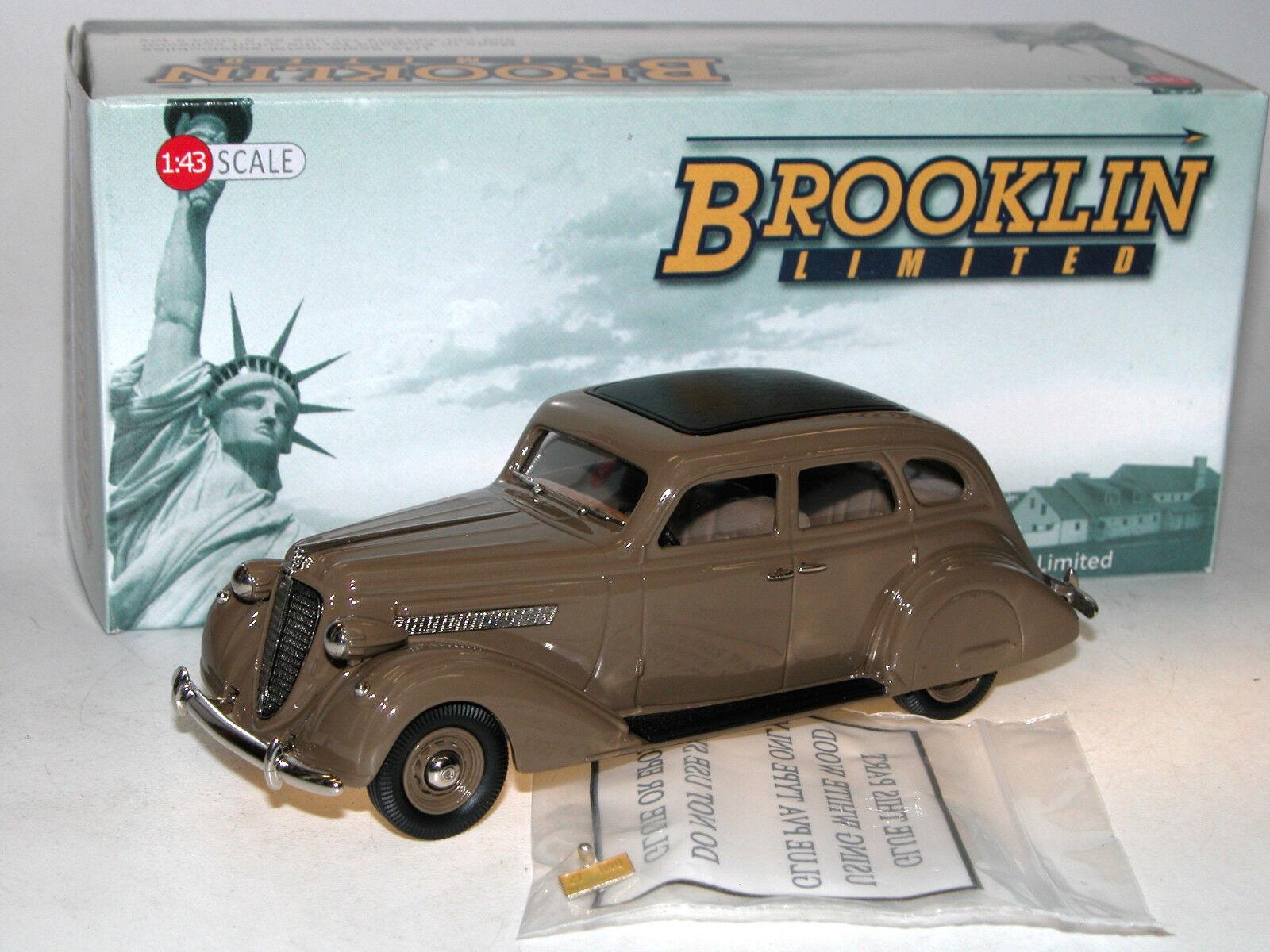 Brooklin modelle bml 12 - 1935 nash ambassador acht limousine braun 1   43 weißen metall