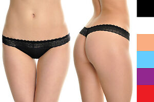 9a73a8a2f10 Women's Lace G-String Panties Cotton Thong Lingerie Assorted Colors ...