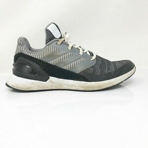 Adidas Mens Rapidarun G27305 Black Gray Running Shoes Lace Up Low Top Size 6.5