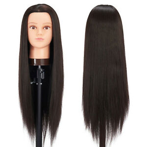 Mannequin Head With Hair Female Makeup Cosmetology Manikin Stand Dummy Doll Wig