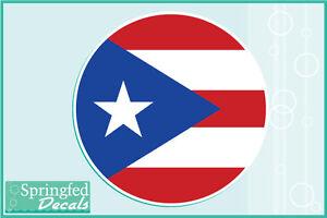 PUERTO RICAN FLAG ROUND Vinyl Decal Car Truck Sticker CUSTOM SIZES - Custom round vinyl decals