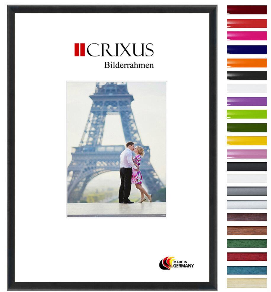 CRIXUS23 Echtholz Bilderrahmen Schwarz Matt Foto Poster Rahmen B_58