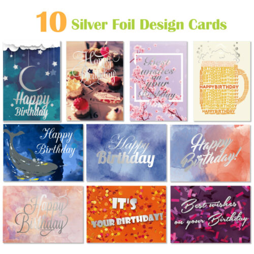 Multi Pack x 40 Mixed Assorted Happy Birthday Cards Adult Dad Mum Greeting Card
