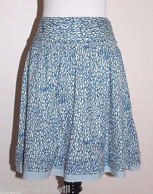 American Eagle Cotton Skirt 0 XS New A Line Banded Waist Full Fit Flare Print