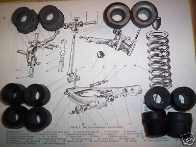 MG B MGB GT Front Inner Suspension Wishbone BUSH BUSHES Kit x12 1962-82
