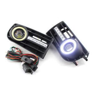 L-amp-R-Car-Front-BUMPER-GRILLE-FOG-LIGHT-LED-LAMP-Set-Fit-FOR-VW-Golf-MK5-03-09-04